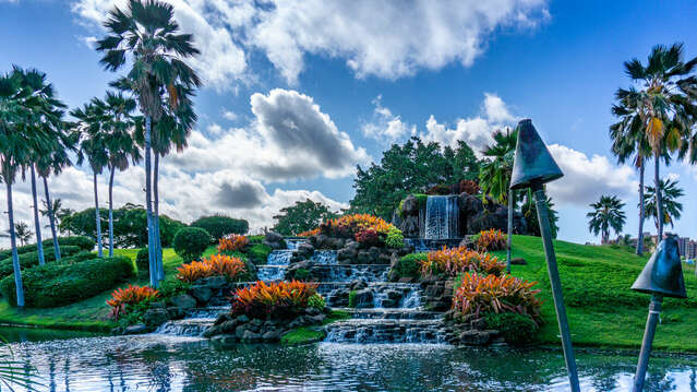 Waterfall at Ko Olina Golf Course's 12th Hole