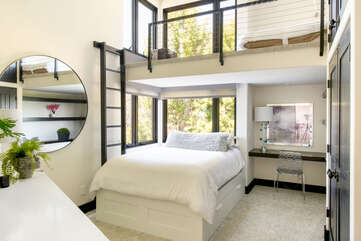 Another queen bed with loft space.