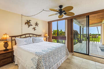 Mater Bedroom with Cal King Bed and Ocean Views