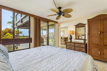 Cal King Bed and Ocean Views