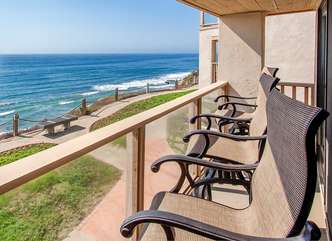 The oceanfront patio at your condo!