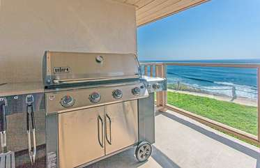 High end BBQ with oceanfront grilling....