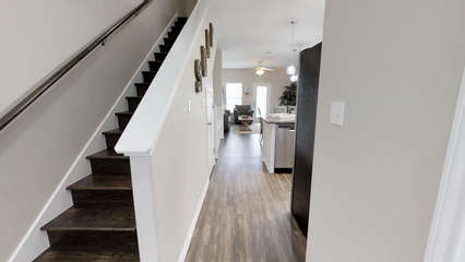Stairs to 2nd Floor Bedrooms + Laundry
