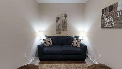 Media Room with Sleeper Sofa