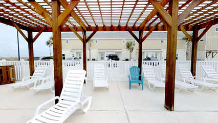 Shaded Seating in Pool Area
