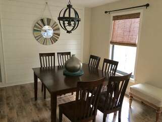 Spacious dining room for meals or board games at the end of the day!