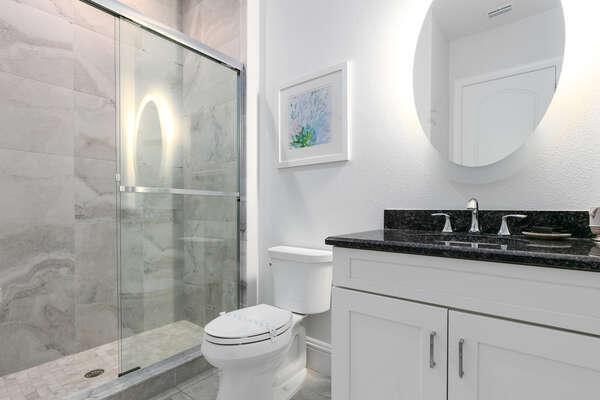En suite bathroom with walk-in shower