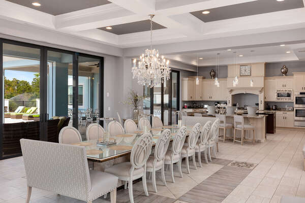 Gather your family under one table in the large dining table