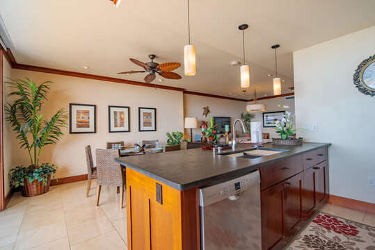 Modern, Fully Equipped Kitchen in our Ko Olina Condo on Oahu