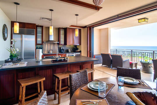 Kitchen and Dining Area in our Ko Olina Condo on Oahu