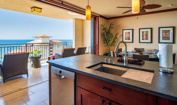 Fantastic View of the Ocean from the Kitchen