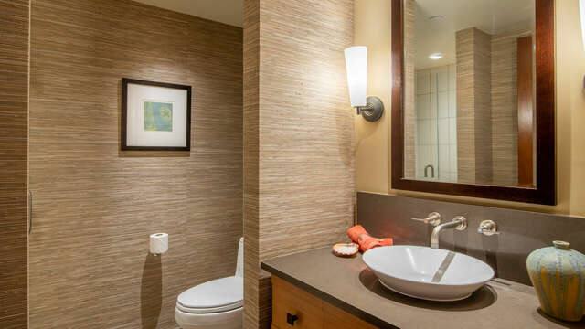 Second Full Bathroom with Bowl Sink and Walk-in Shower