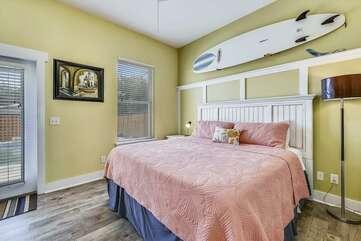 (King) Bedroom on Main Level + Pool Access Door