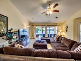 Large sectional in great room