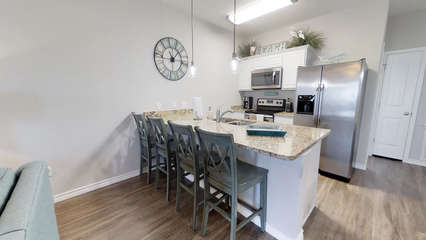 Kitchen Open to Living Room