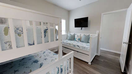Twin over Full Bunk + Twin Daybed with Twin Trundle (1st Floor)