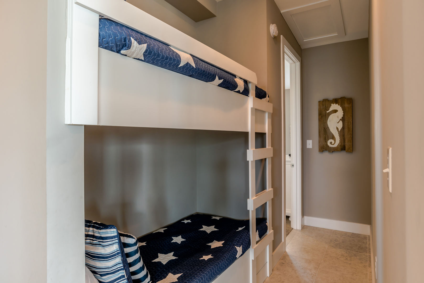 The Bunk Nook in the Hallway Has Twin Bunk Beds