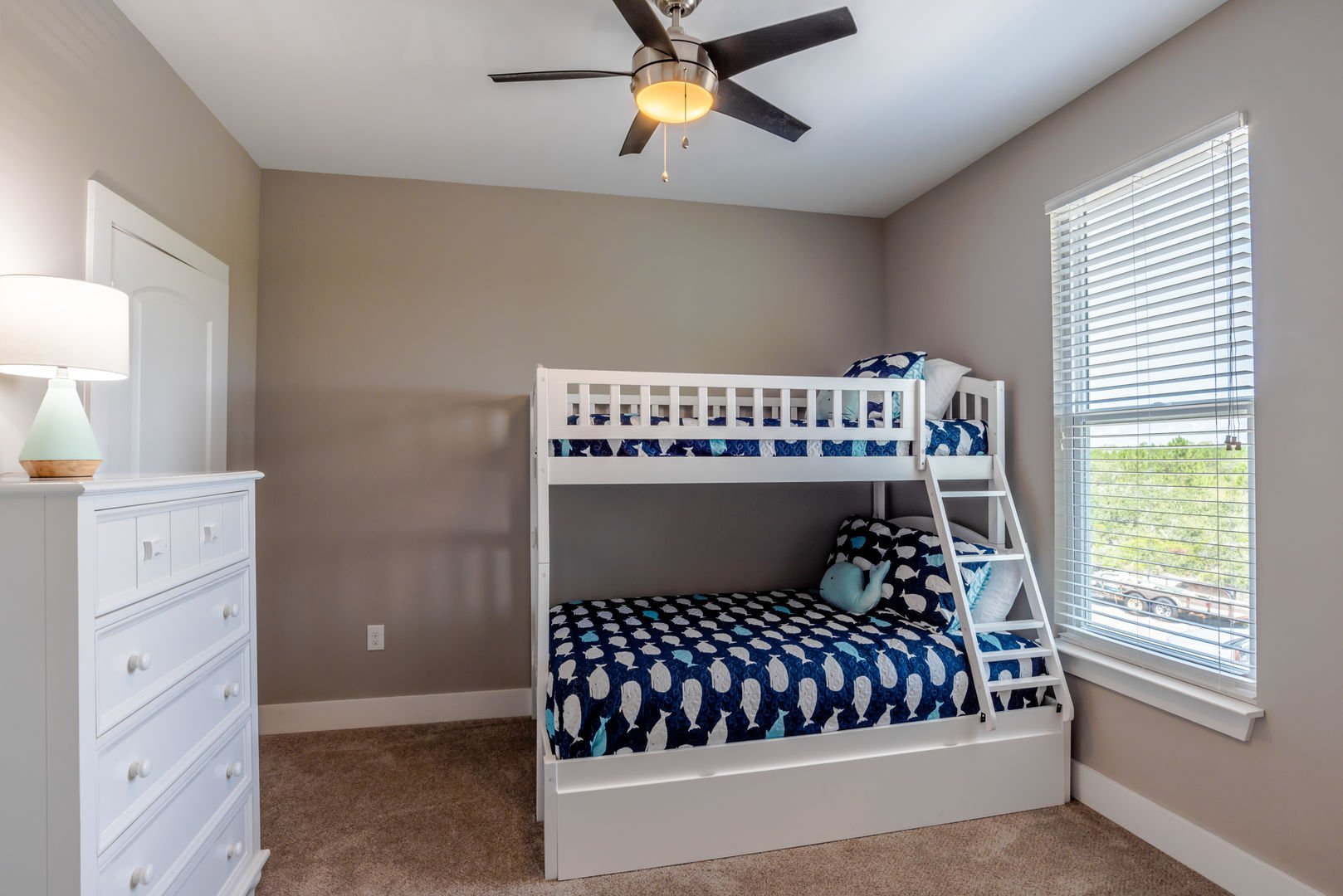 The Third Guest Bedroom Has a Twin Over Full Bunk With Trundle. It is Also Connected to The Common Bathroom.