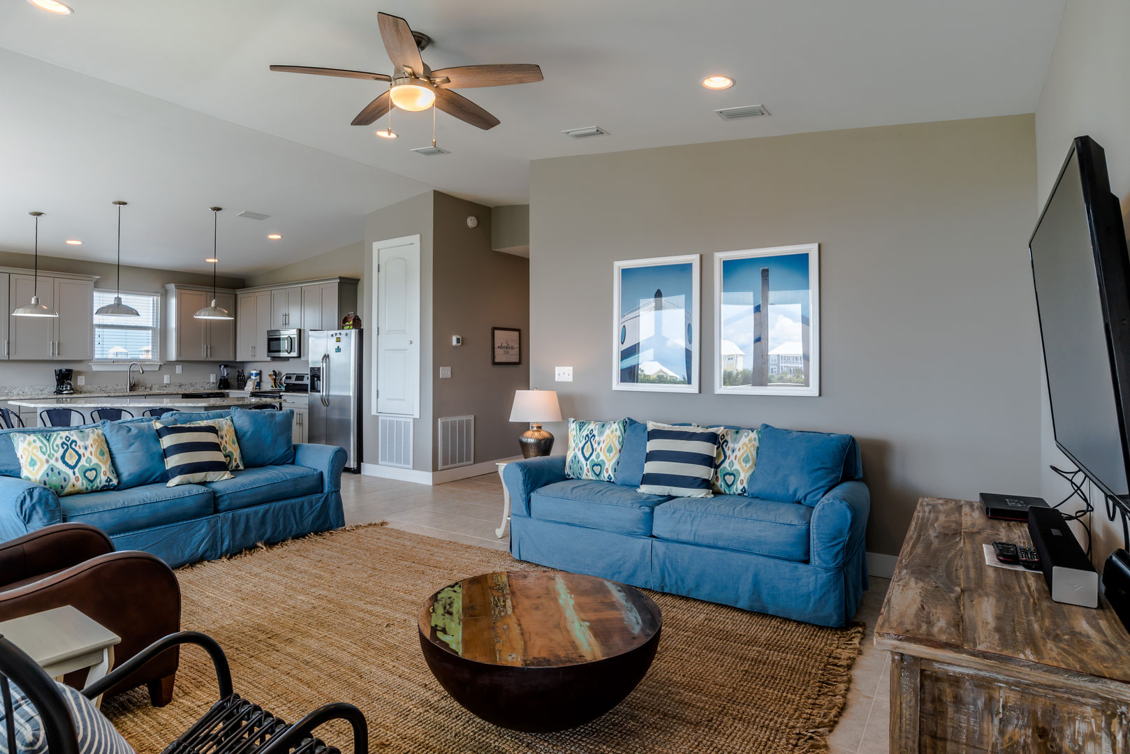 Spacious Living Area in our Fort Morgan, Alabama Vacation Home