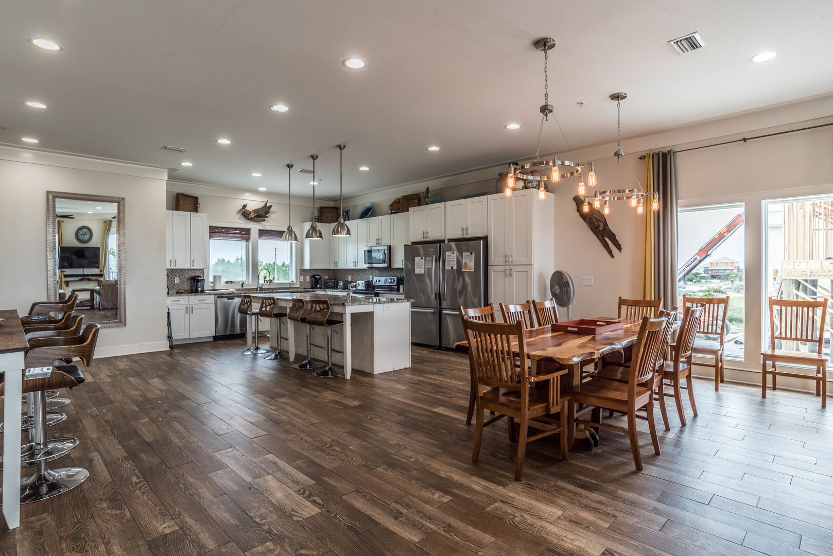 Spacious Kitchen & Dining Area in our Fort Morgan, AL Vacation Rental