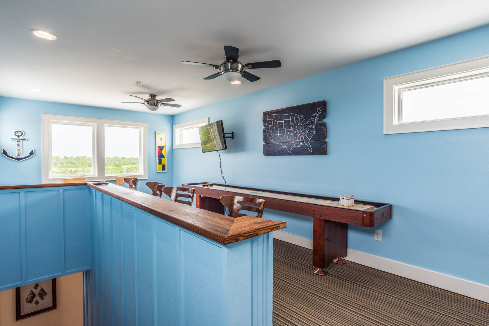 Tabletop Shuffleboard Game in our Fort Morgan, AL Vacation Rental