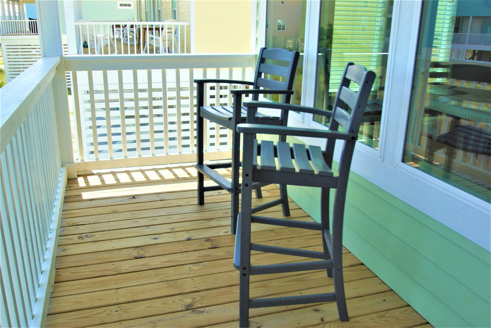 The High Rise Chairs Are Perfect for Enjoying the Sights of the Gulf