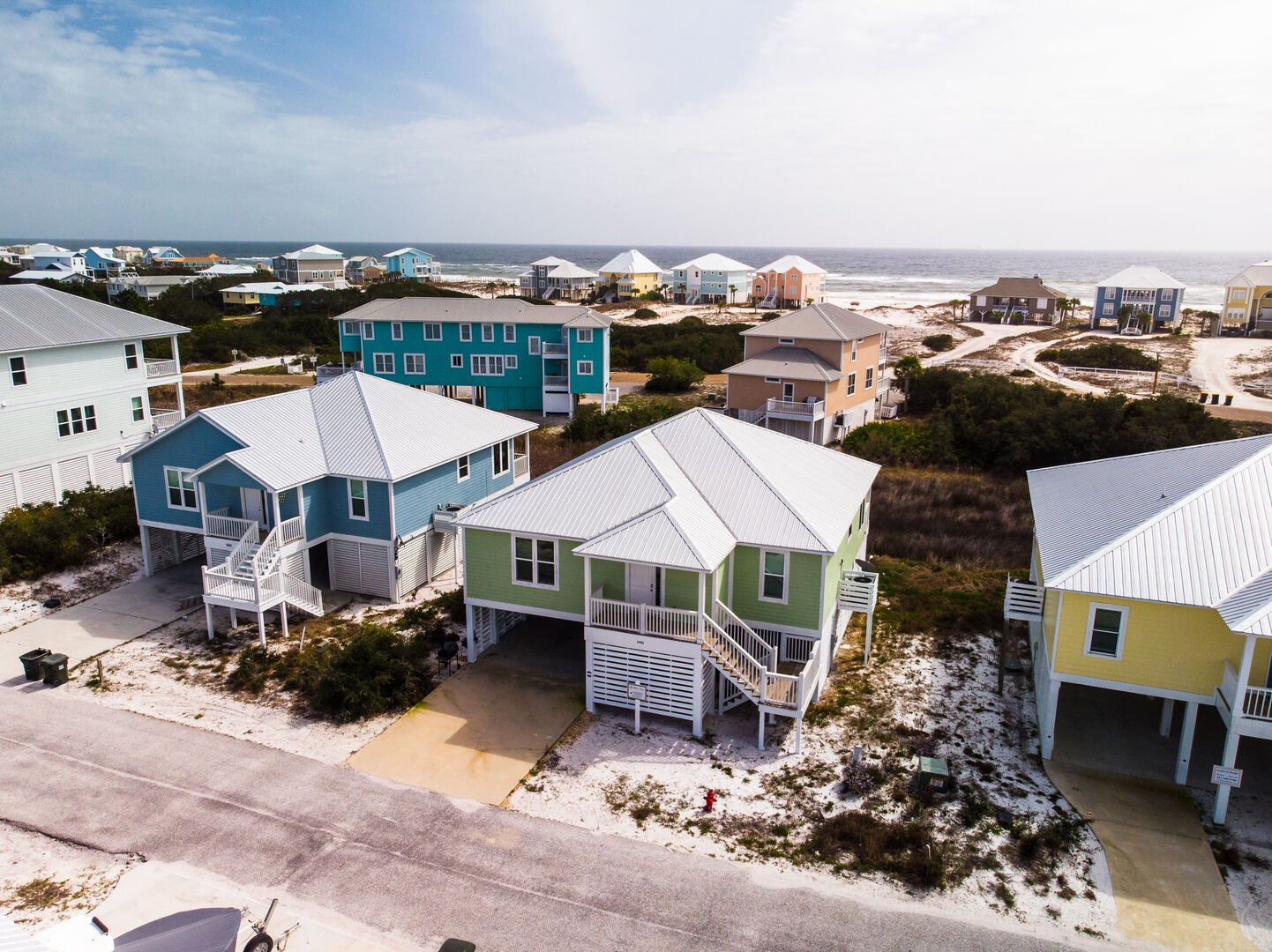 Aerial View of our Fort Morgan, Alabama Vacation Home