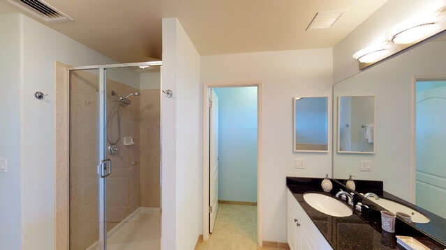Walk-in Shower in the Master Bathroom of our Ko Olina Kai Vacation Rental