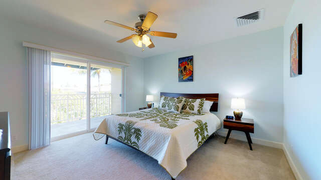 Large Master Bedroom with King Bed and Access to it's Own Private Lanai
