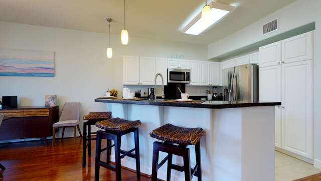 Breakfast Bar and Kitchen in our Ko Olina Kai Vacation Rental
