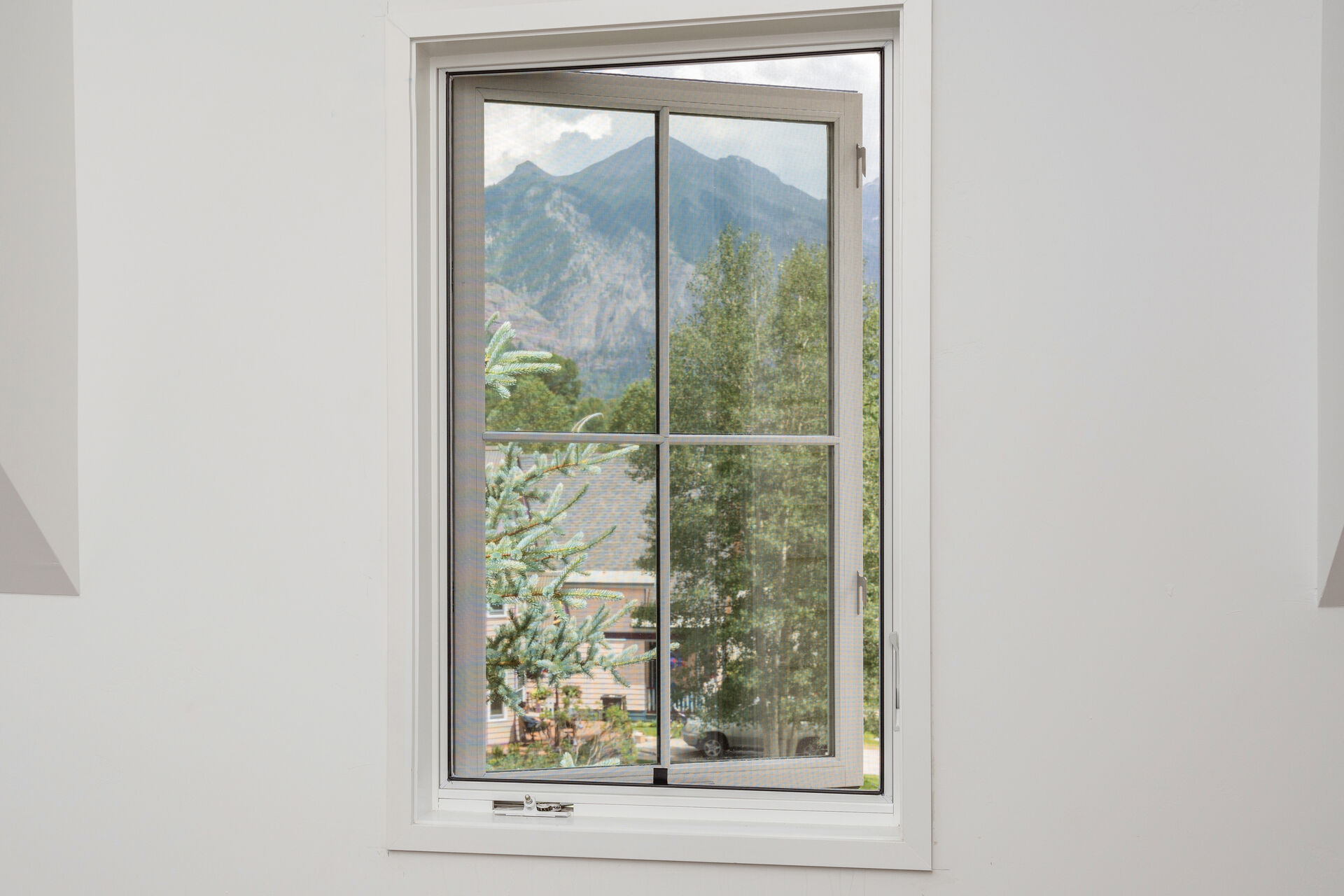 Window Looking out at the Mountains in Telluride