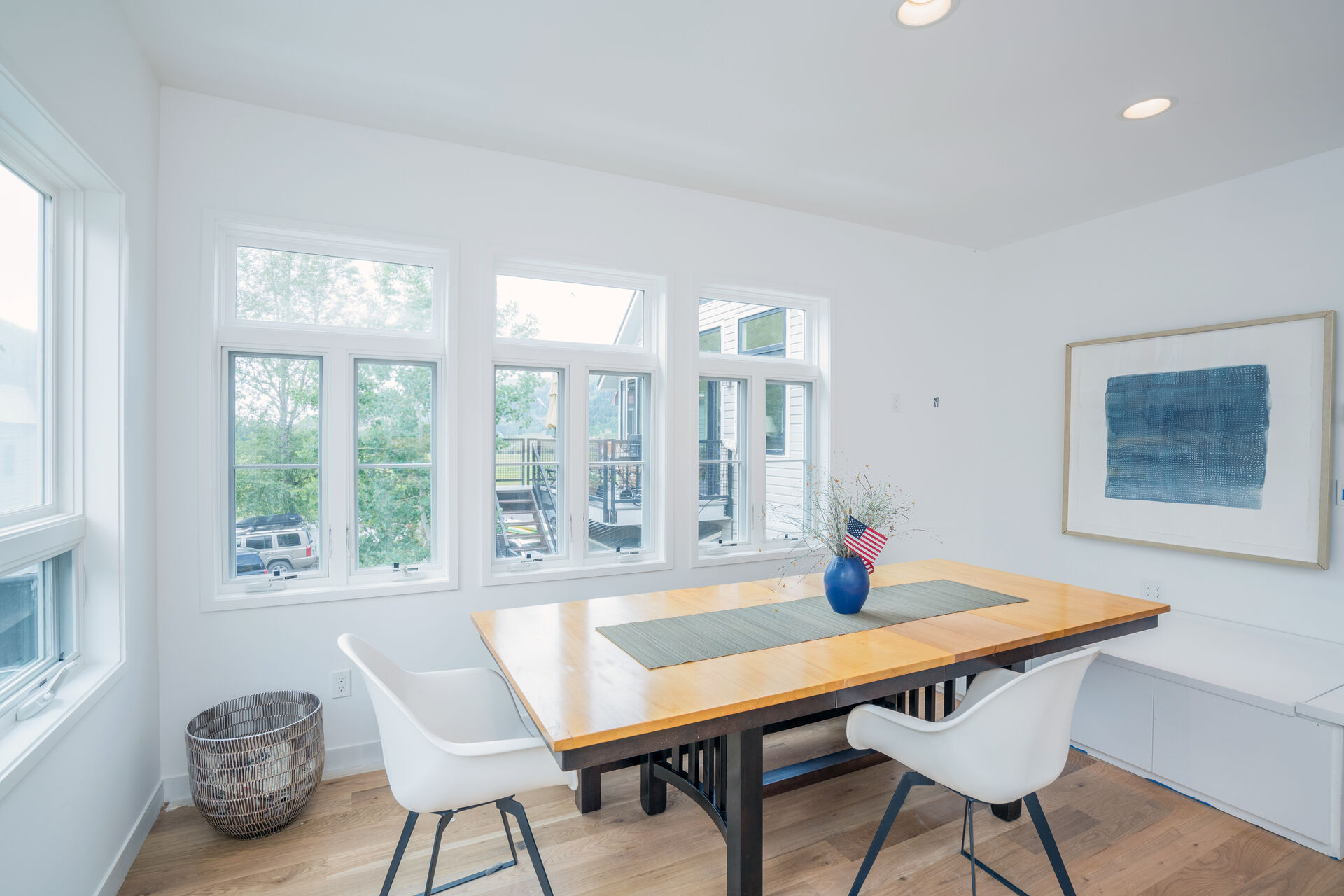Dining Area with Ample Seating and Views of outside at Vacation Home in Telluride