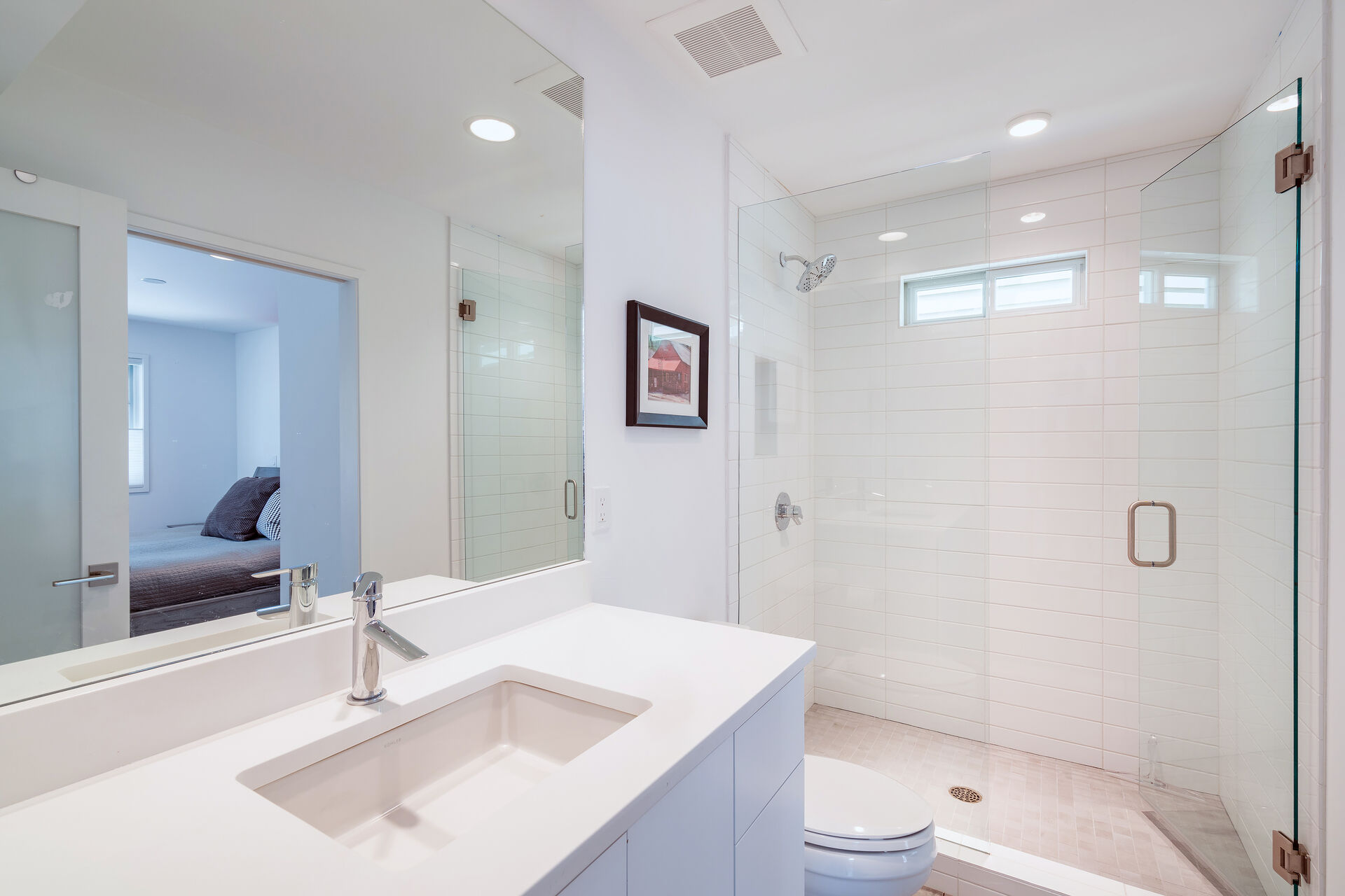 Full Bathroom with Vanity and Large Walk-in Shower at Vacation Home in Telluride