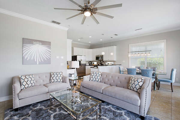 Ample seating to gather the family around.