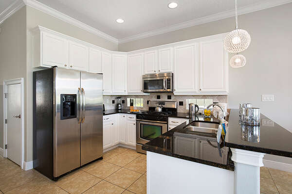 The fully equipped kitchen with all you need.
