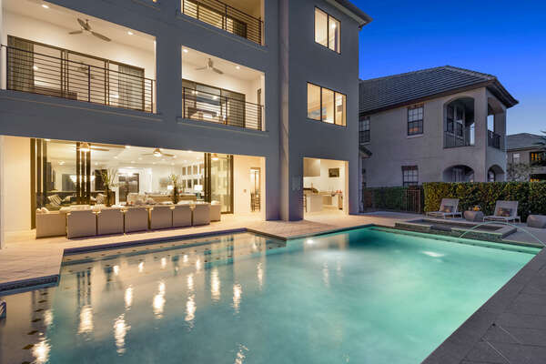Come home from a day of enjoying the Orlando attractions and relax in your pool and spa