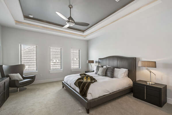 Master Suite 8 has a beautiful King bed