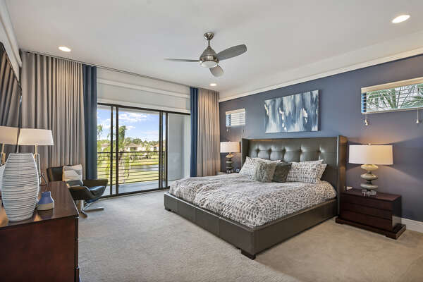 Master Suite 5 features a King bed and balcony access