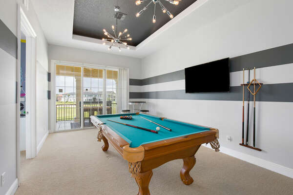 Every member of your party can enjoy the loft area.