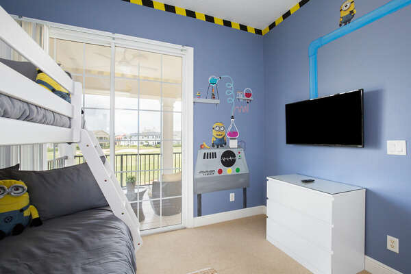 The kids will have their own 42-inch TV to enjoy.