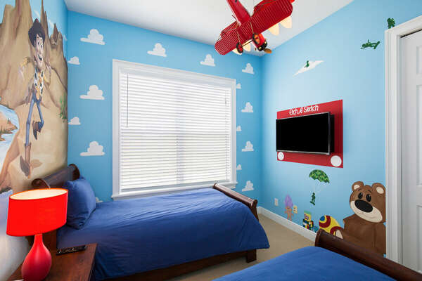 This bedroom also has its own 42-inch TV.