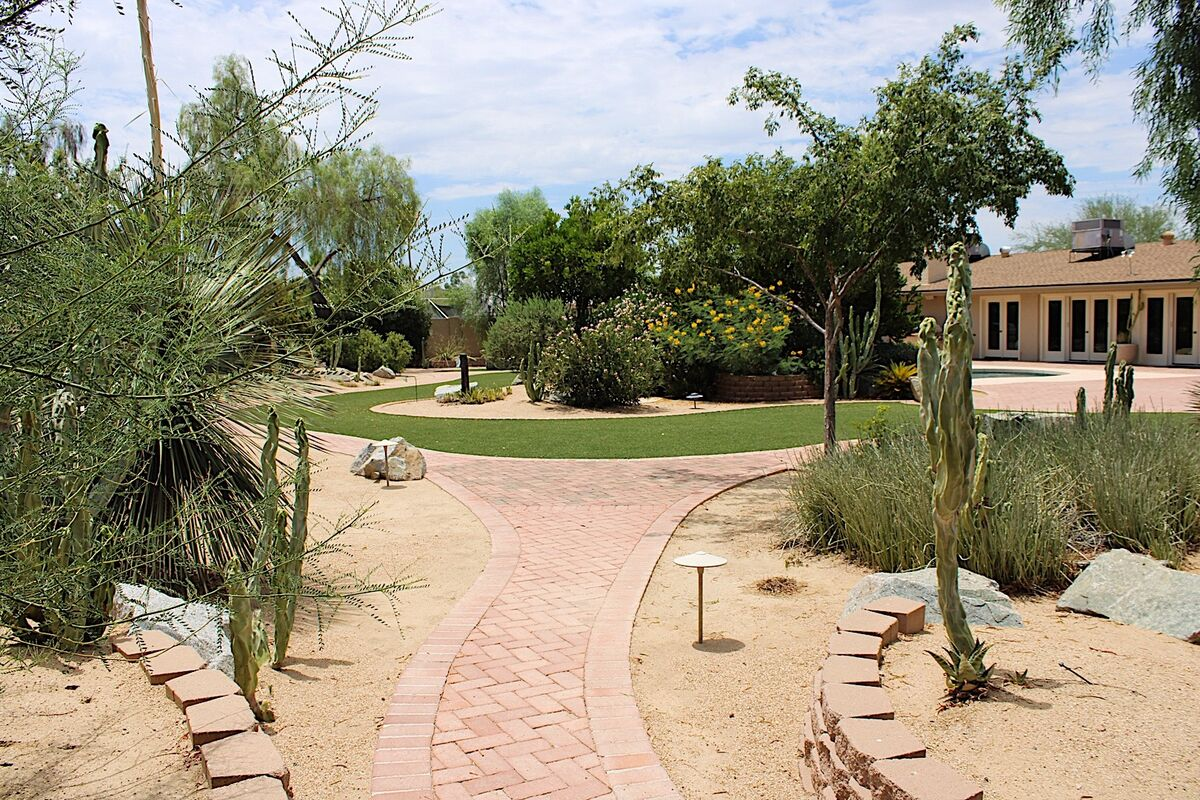 Walking paths throughout the property to view the wonderful landscaping