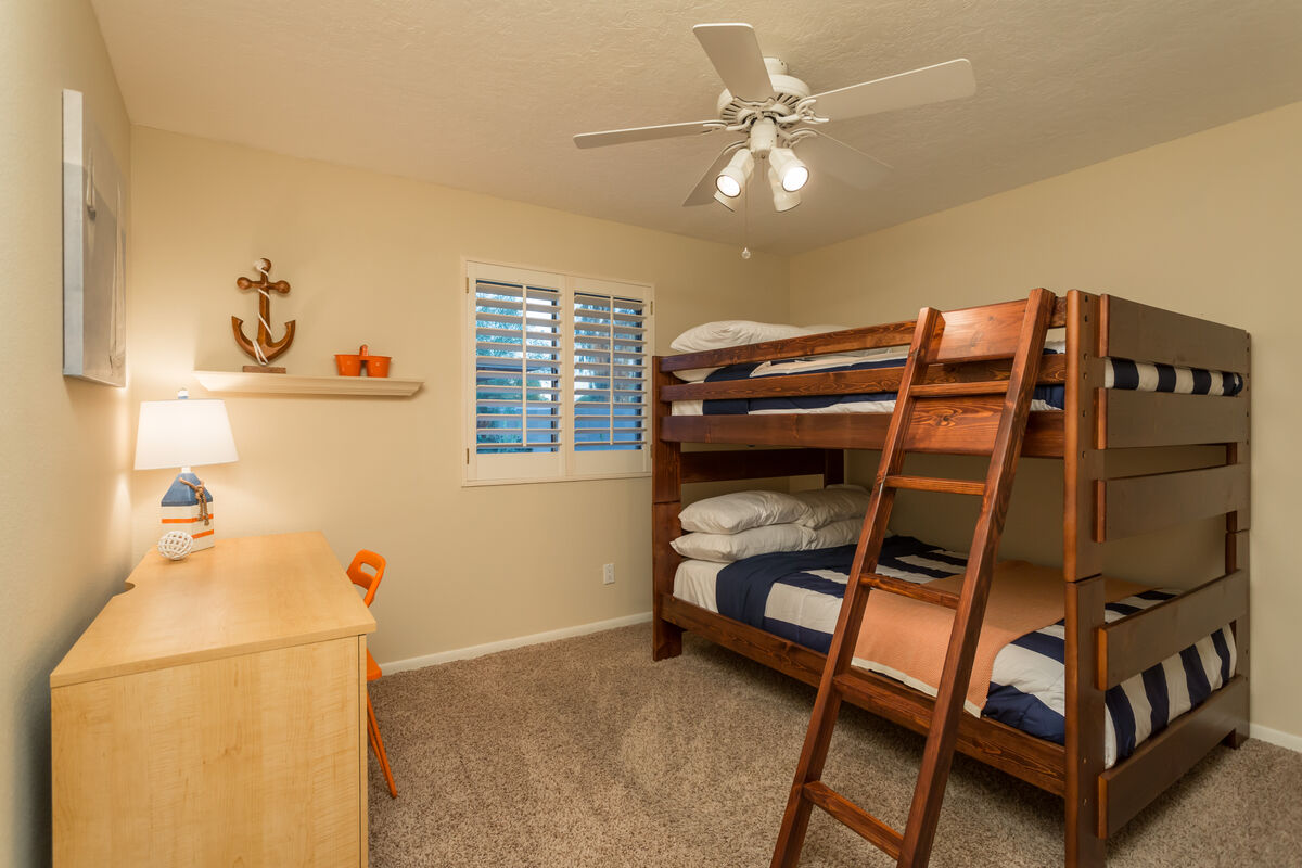Are those bunk beds? YES! Full-sized bunk beds!