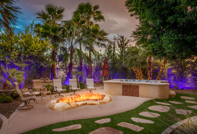 Fabulous Fire Pit and Seating Area Outside our Scottsdale AZ Vacation Home Rental