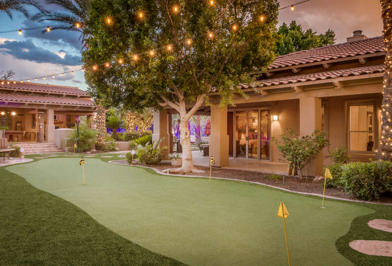 Putting Green Featured in the Interior Courtyard
