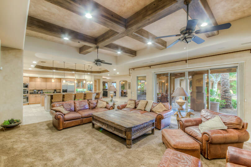 Large Living Room in our Scottsdale AZ Vacation Home Rental