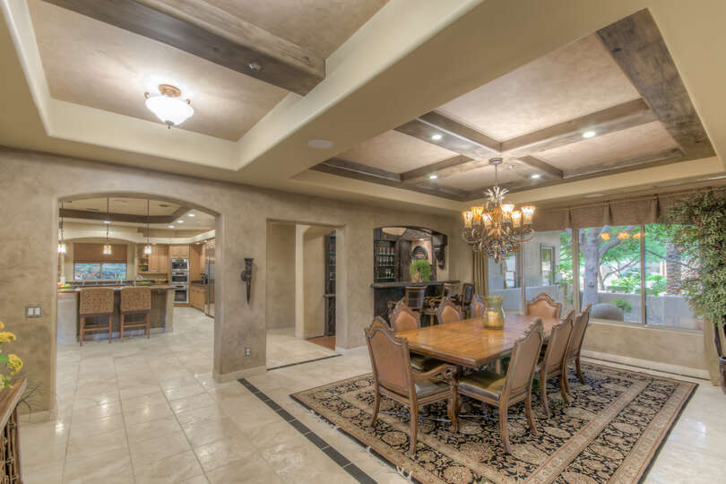 Spacious Dining Area in our Scottsdale AZ Vacation Home Rental