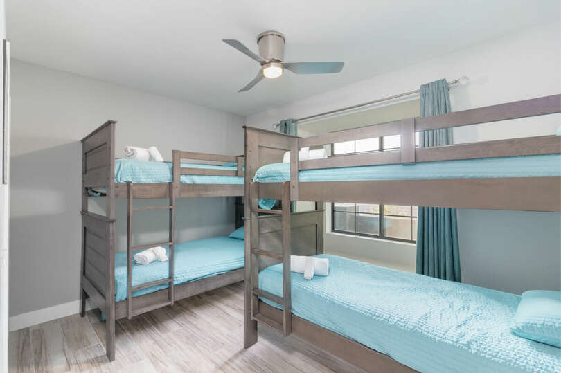 Fourth bedroom with dual bunk beds.