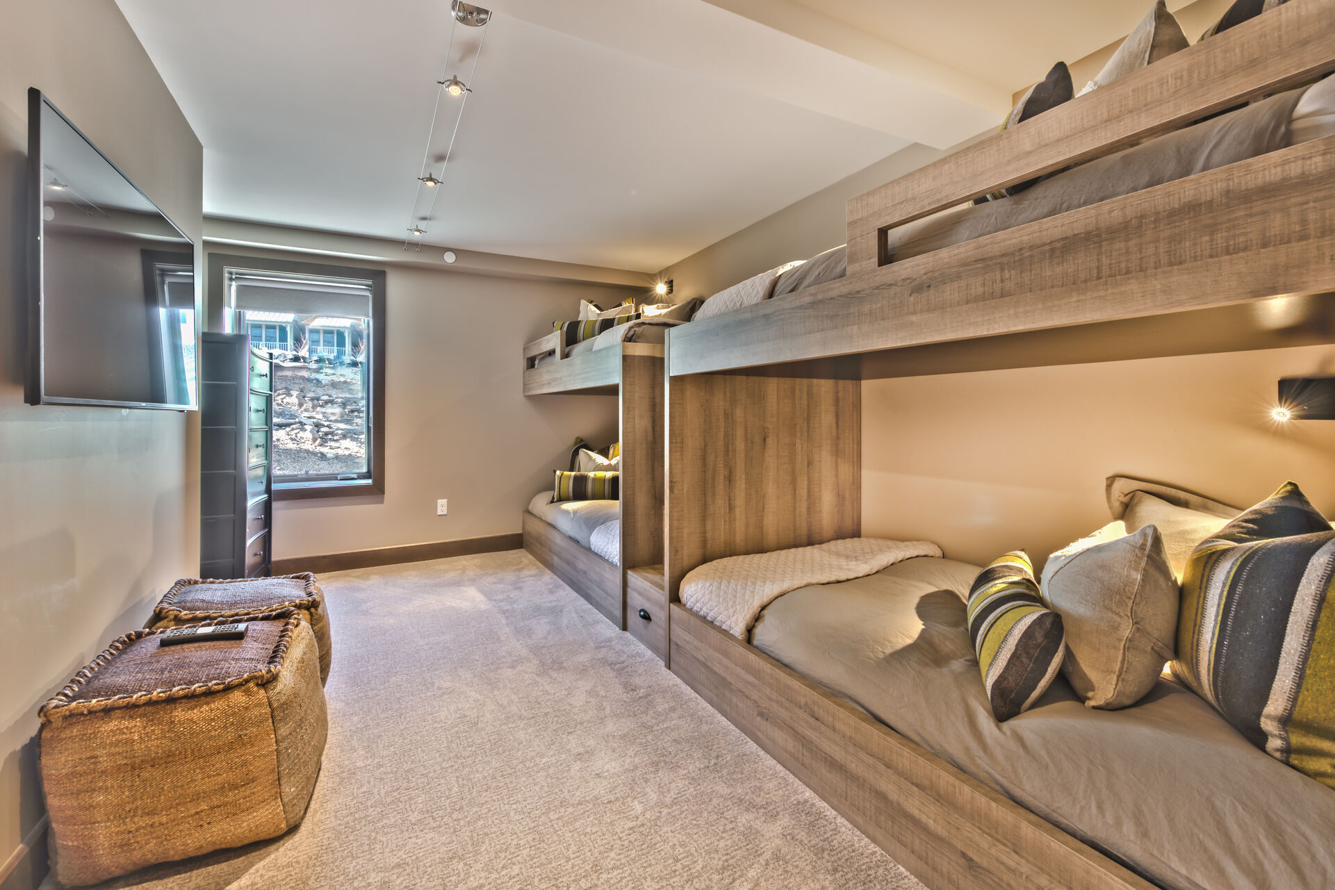 Main Level Bunk Room with Two Custom Twin Bunks, 50