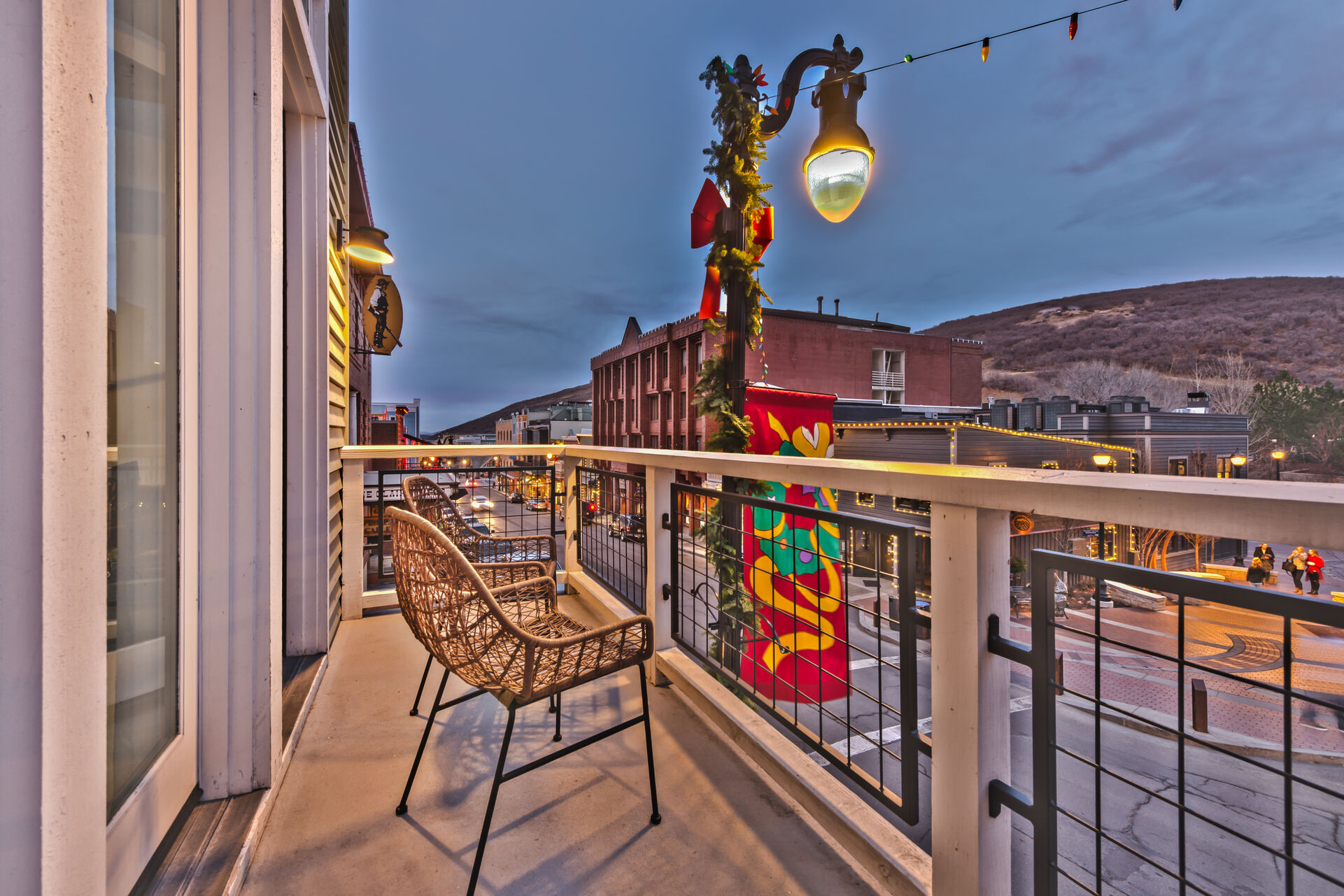 View from Deck off Living Room in the Heart of Main Street!